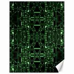 An Overly Large Geometric Representation Of A Circuit Board Canvas 12  X 16