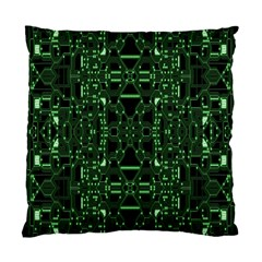 An Overly Large Geometric Representation Of A Circuit Board Standard Cushion Case (one Side)