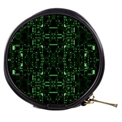 An Overly Large Geometric Representation Of A Circuit Board Mini Makeup Bags
