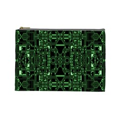 An Overly Large Geometric Representation Of A Circuit Board Cosmetic Bag (Large)