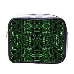 An Overly Large Geometric Representation Of A Circuit Board Mini Toiletries Bags