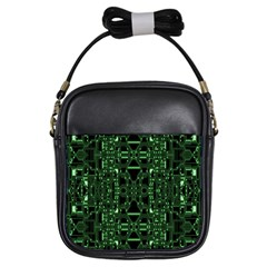 An Overly Large Geometric Representation Of A Circuit Board Girls Sling Bags