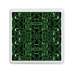 An Overly Large Geometric Representation Of A Circuit Board Memory Card Reader (square)