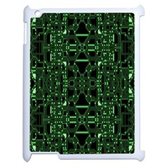 An Overly Large Geometric Representation Of A Circuit Board Apple iPad 2 Case (White)
