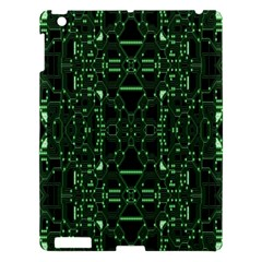 An Overly Large Geometric Representation Of A Circuit Board Apple iPad 3/4 Hardshell Case