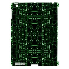 An Overly Large Geometric Representation Of A Circuit Board Apple iPad 3/4 Hardshell Case (Compatible with Smart Cover)