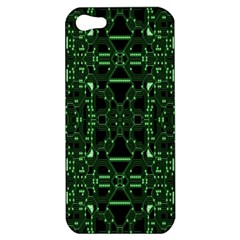 An Overly Large Geometric Representation Of A Circuit Board Apple iPhone 5 Hardshell Case