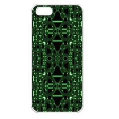 An Overly Large Geometric Representation Of A Circuit Board Apple iPhone 5 Seamless Case (White)