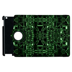 An Overly Large Geometric Representation Of A Circuit Board Apple iPad 2 Flip 360 Case