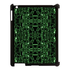 An Overly Large Geometric Representation Of A Circuit Board Apple iPad 3/4 Case (Black)