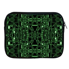 An Overly Large Geometric Representation Of A Circuit Board Apple iPad 2/3/4 Zipper Cases