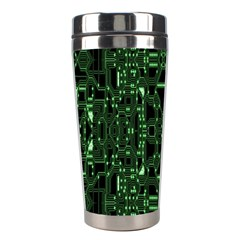 An Overly Large Geometric Representation Of A Circuit Board Stainless Steel Travel Tumblers