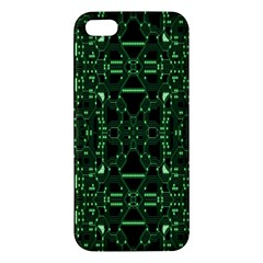 An Overly Large Geometric Representation Of A Circuit Board iPhone 5S/ SE Premium Hardshell Case