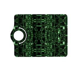 An Overly Large Geometric Representation Of A Circuit Board Kindle Fire HD (2013) Flip 360 Case