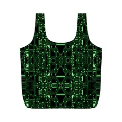 An Overly Large Geometric Representation Of A Circuit Board Full Print Recycle Bags (M)