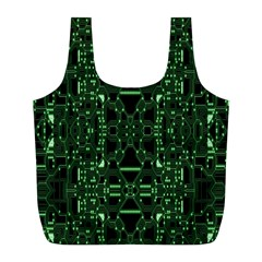 An Overly Large Geometric Representation Of A Circuit Board Full Print Recycle Bags (L)