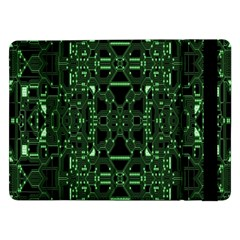 An Overly Large Geometric Representation Of A Circuit Board Samsung Galaxy Tab Pro 12.2  Flip Case