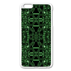 An Overly Large Geometric Representation Of A Circuit Board Apple Iphone 6 Plus/6s Plus Enamel White Case