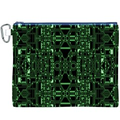 An Overly Large Geometric Representation Of A Circuit Board Canvas Cosmetic Bag (xxxl)