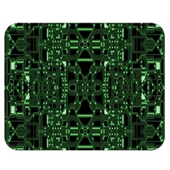 An Overly Large Geometric Representation Of A Circuit Board Double Sided Flano Blanket (Medium)