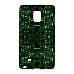 An Overly Large Geometric Representation Of A Circuit Board Galaxy Note Edge