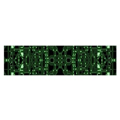 An Overly Large Geometric Representation Of A Circuit Board Satin Scarf (oblong)
