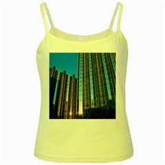 Two Abstract Architectural Patterns Yellow Spaghetti Tank