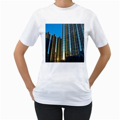 Two Abstract Architectural Patterns Women s T Shirt (white) (two Sided)