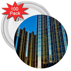 Two Abstract Architectural Patterns 3  Buttons (100 pack)