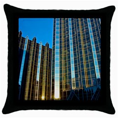 Two Abstract Architectural Patterns Throw Pillow Case (Black)