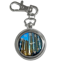 Two Abstract Architectural Patterns Key Chain Watches