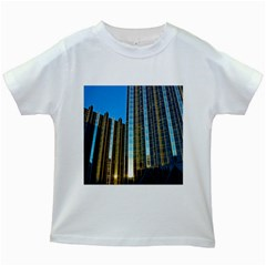 Two Abstract Architectural Patterns Kids White T Shirts