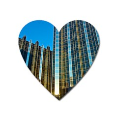 Two Abstract Architectural Patterns Heart Magnet