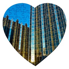 Two Abstract Architectural Patterns Jigsaw Puzzle (Heart)