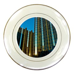 Two Abstract Architectural Patterns Porcelain Plates