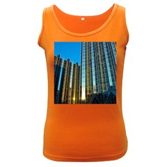 Two Abstract Architectural Patterns Women s Dark Tank Top