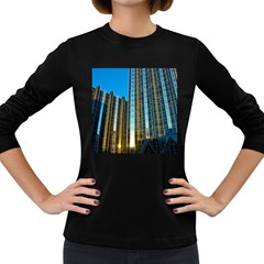 Two Abstract Architectural Patterns Women s Long Sleeve Dark T-Shirts