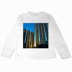 Two Abstract Architectural Patterns Kids Long Sleeve T-Shirts