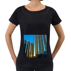 Two Abstract Architectural Patterns Women s Loose-Fit T-Shirt (Black)