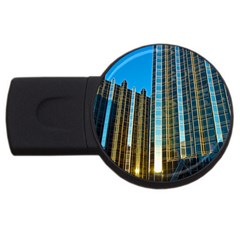Two Abstract Architectural Patterns Usb Flash Drive Round (4 Gb)
