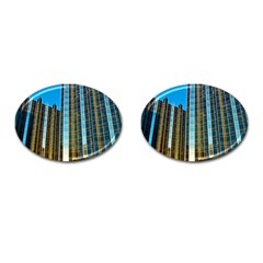 Two Abstract Architectural Patterns Cufflinks (Oval)