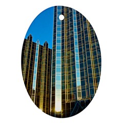 Two Abstract Architectural Patterns Oval Ornament (two Sides)