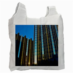 Two Abstract Architectural Patterns Recycle Bag (one Side)