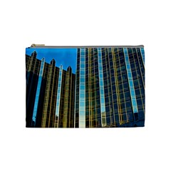 Two Abstract Architectural Patterns Cosmetic Bag (medium)