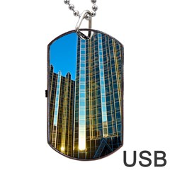 Two Abstract Architectural Patterns Dog Tag USB Flash (One Side)
