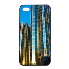 Two Abstract Architectural Patterns Apple iPhone 4/4s Seamless Case (Black)