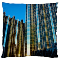 Two Abstract Architectural Patterns Large Cushion Case (Two Sides)
