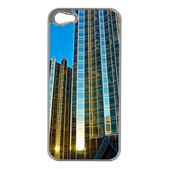 Two Abstract Architectural Patterns Apple iPhone 5 Case (Silver)