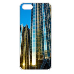Two Abstract Architectural Patterns Apple iPhone 5 Seamless Case (White)