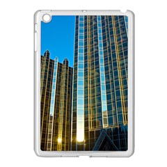 Two Abstract Architectural Patterns Apple iPad Mini Case (White)